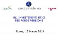 Gli investimenti etici dei fondi pensione