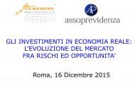 Gli investimenti in economia reale: l'evoluzione del mercato fra rischi ed opportunità