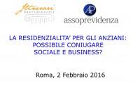 La residenzialità per gli anziani: possibile coniugare sociale e business?