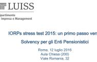 Seminario LUISS-IORPs Stress Test 2015