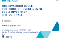 Terzo osservatorio sulle politiche di investimento degli investitori istituzionali